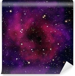Papier peint vinyle Nébuleuse et la star dans le domaine spatial