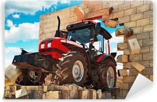 Papier peint vinyle Neuf Tracteur briser le mur