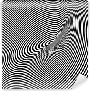 Papier peint vinyle Noir et Blanc Opt Art Contexte