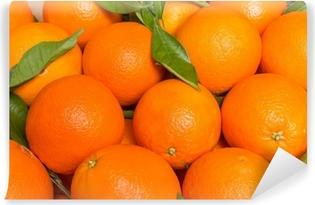 Papier peint vinyle Oranges valenciennes savoureux fraîchement récoltées