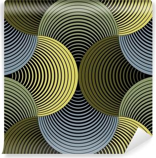 Papier Peint Vinyle Ornement géométrique pétales Grille, Abstract Vector Seamless Pattern