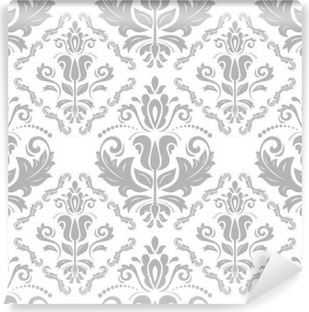 Sticker Ornement Sans Couture De Damasse Motif Traditionnel En