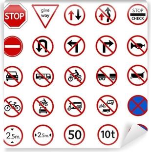 Papier peint vinyle Panneau d'interdiction de la circulation