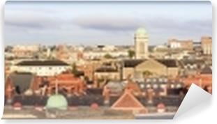 Papier peint vinyle Panorama du matin au centre de Dublin.