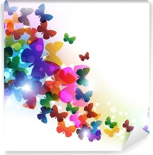 Papier Peint Vinyle Papillons volants colorés