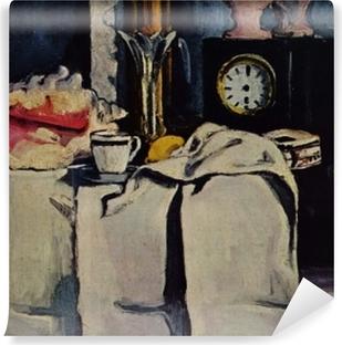 Papier peint vinyle Paul Cézanne - La Pendule noire
