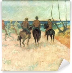 Papier peint vinyle Paul Gauguin - Cavaliers sur la plage