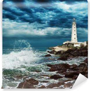 Papier peint vinyle Phare se trouve sur le bord de la péninsule de Crimée