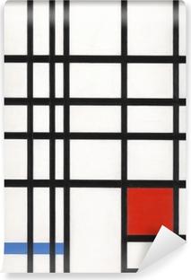 Papier peint vinyle Piet Mondrian - Composition avec jaune, bleu et rouge
