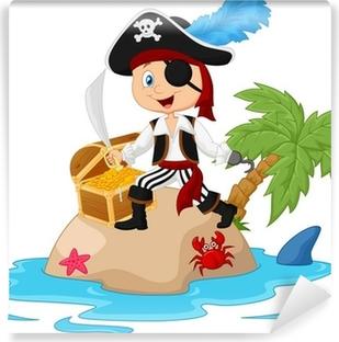Papier peint vinyle Pirate de l'île au trésor