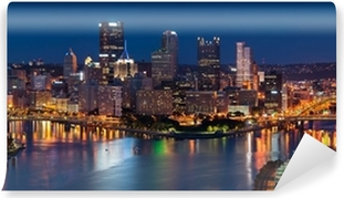Papier peint vinyle Pittsburgh skyline panorama.