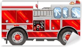 Bythatiblogspotcom Pixel Art Camion De Pompier