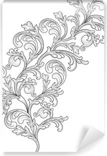Papier peint vinyle Plante ornementale