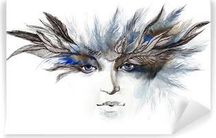Papier peint vinyle Plumes autour des yeux (série C)
