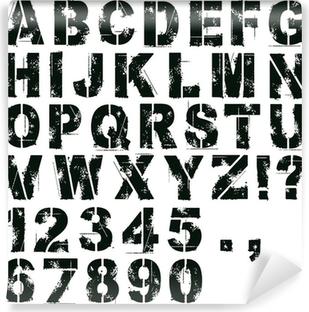 Papier peint vinyle Pochoir lettres et des chiffres