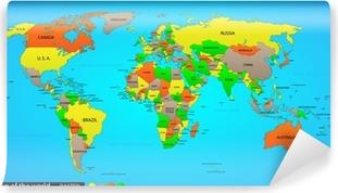 Papier peint vinyle Political map world