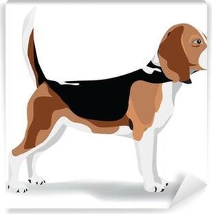 Papier peint vinyle Pollution beagle