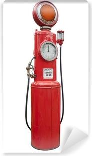 Papier peint vinyle Pompe à essence antique en rouge, isolé