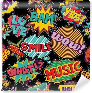 Papier peint vinyle Pop art comique point patch seamless