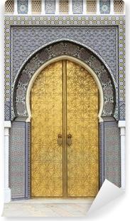 Papier peint vinyle Porte doré du Palais Royal à Fès, Maroc