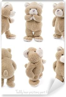 Papier peint vinyle Positions de la partie 1 de 3 ours en peluche
