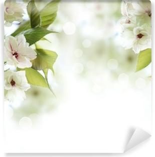 Papier peint vinyle Printemps fleur de cerisier