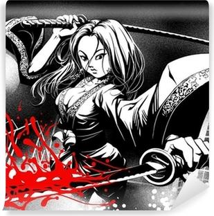 Papier peint vinyle Quand la bande dessinée se rencontrent manga