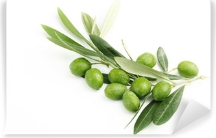 Papier peint vinyle Rameau d'olivier avec des olives et des feuilles # 3
