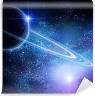 Papier peint vinyle Réaliste Saturne en espace ouvert