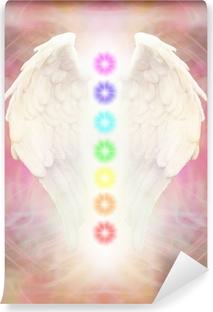 Papier peint vinyle Reiki ailes d'ange et de sept Chakras