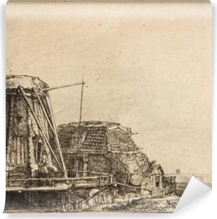 Papier peint vinyle Rembrandt - Le Moulin