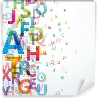 Papier peint vinyle Résumé couleur Alphabet sur fond blanc # Vector