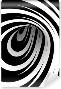 Papier Peint Vinyle Résumé spirale noir et blanc