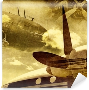 Papier Peint Vinyle Retro aviation