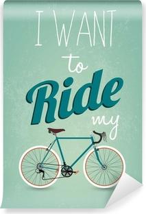 Papier peint vinyle Rétro fond de vélos