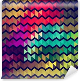 Papier peint vinyle Rétro peinture de style art de zigzag