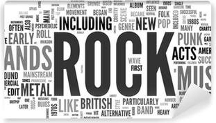 Papier peint vinyle Rock and roll - Musique