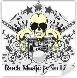 Papier peint vinyle Rock n roll symbole 4
