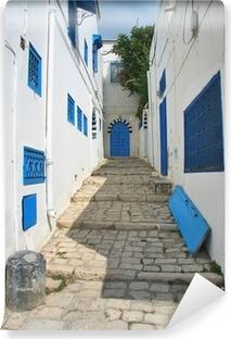 Papier peint vinyle Rue à Sidi Bou en Tunisie