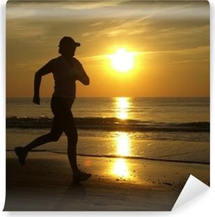 Papier peint vinyle Running woman