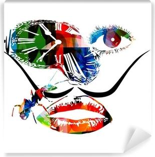 Papier peint vinyle Salvador Dali vecteur d'œuvres d'art inspirées