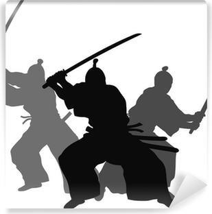 Papier peint vinyle Samourais