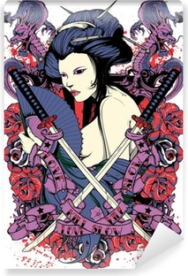 Papier peint vinyle Samurai diva