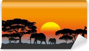 Papier peint vinyle Savane africaine