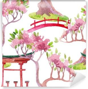 Papier Peint Vinyle Seamless japonais