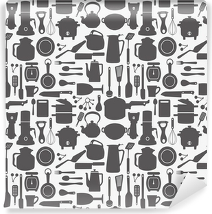 Papier peint vinyle Seamless kitchen pattern