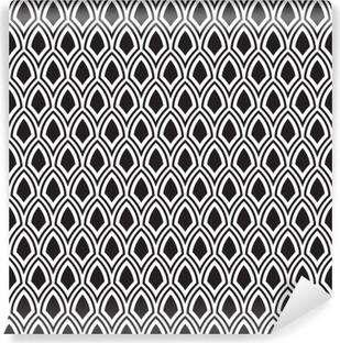 Papier Peint Vinyle Seamless noir et blanc abstrait Art Déco Vector Motif