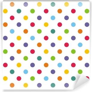 Papier Peint Vinyle Seamless vecteur ou de fond à pois colorés