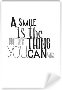 Papier Peint Vinyle Simple affiche en noir et blanc avec une expression de motivation