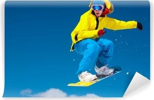 Papier peint vinyle Snowboarder